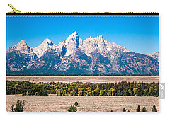 Fall Tetons Panorama   Carry-all Pouch by Lars Lentz