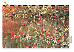 Carry-all Pouch featuring the photograph Fall Upon The Water by Bruce Carpenter