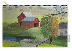 Carry-all Pouch featuring the painting Fall Walk by Norm Starks