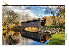 Fallasburg Bridge In Fall Carry-all Pouch