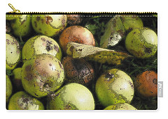 Carry-all Pouch featuring the digital art Fallen Aplles by Ron Harpham