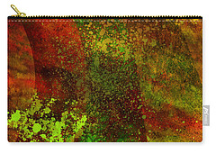 Carry-all Pouch featuring the mixed media Fallen Seasons by Ally  White