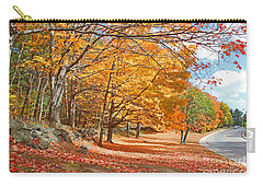 Falling Leaves On The Road To Bentley Carry-all Pouch