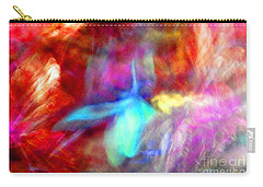 Falling Petal Abstract Red Magenta And Blue B Carry-all Pouch