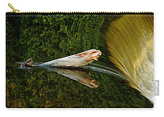Carry-all Pouch featuring the photograph Falling Tree Reflections by Debbie Oppermann