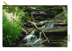 Carry-all Pouch featuring the photograph Falling Water by Alan Lakin