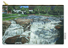 Carry-all Pouch featuring the painting Falls River Park by Bryan Bustard