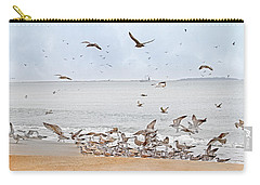 Family Flock  Carry-all Pouch by Betsy Knapp