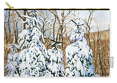 Carry-all Pouch featuring the painting Family Of Four Trailside At 7 Springs by Barbara Jewell