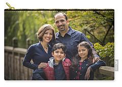 Family Portrait On Bridge - 1 Carry-all Pouch