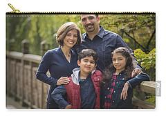 Family Portrait On Bridge - 2 Carry-all Pouch