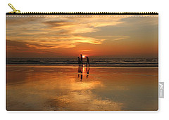 Family Reflections At Sunset -3  Carry-all Pouch