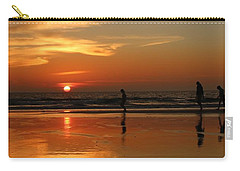 Family Reflections At Sunset - 5 Carry-all Pouch