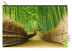 Famous Bamboo Grove At Arashiyama Carry-all Pouch