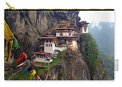 Famous Tigers Nest Monastery Of Bhutan 10 Carry-all Pouch