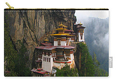 Famous Tigers Nest Monastery Of Bhutan Carry-all Pouch