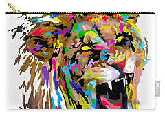 Carry-all Pouch featuring the painting Fangs by Anthony Mwangi