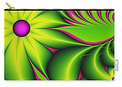 Carry-all Pouch featuring the digital art Fantasy Flowers by Gabiw Art