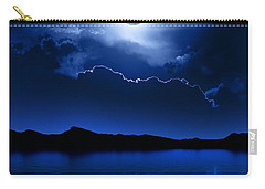 Fantasy Moon And Clouds Over Water Carry-all Pouch