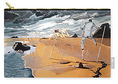 Carry-all Pouch featuring the painting Faraway Lejanias by Lazaro Hurtado