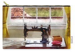 Farm House With Sewing Machine Carry-all Pouch by Susan Savad