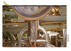 Carry-all Pouch featuring the photograph Farm Scale by Kerri Mortenson
