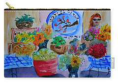 Carry-all Pouch featuring the painting Farmer's Market by Beverley Harper Tinsley