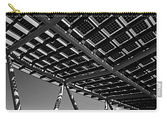 Carry-all Pouch featuring the photograph Farming The Sun - Architectural Abstract by Steven Milner