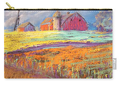 Farmland Sunset Carry-all Pouch by Terri Einer