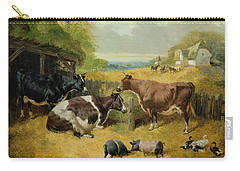 Farmyard Scene Carry-all Pouch by John Frederick Herring Snr