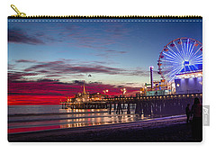Ferris Wheel On The Santa Monica California Pier At Sunset Fine Art Photography Print Carry-all Pouch