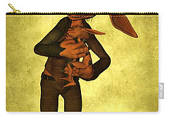 Carry-all Pouch featuring the digital art Father And Son by Gabiw Art