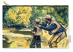Father And Son Carry-all Pouch by John D Benson