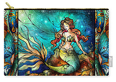 Fathoms Below Triptych Carry-all Pouch