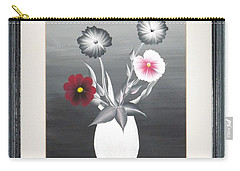 Carry-all Pouch featuring the painting Faux Flowers II by Ron Davidson