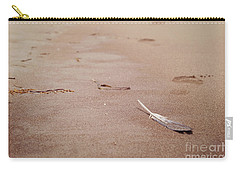Feather On Sand Carry-all Pouch