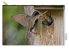 Feeding Starlings Carry-all Pouch by Torbjorn Swenelius