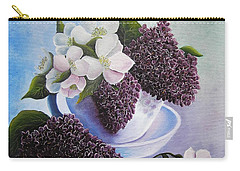 Carry-all Pouch featuring the painting Feel The Fragrance by Vesna Martinjak