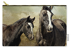 Feldspar And Ohanzee  - Pryor Mustangs Carry-all Pouch