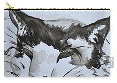 Carry-all Pouch featuring the painting Feline by Beverley Harper Tinsley