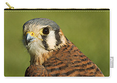 Carry-all Pouch featuring the photograph female American Kestrel by Doug Herr