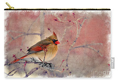 Female Cardinal Portrait Carry-all Pouch