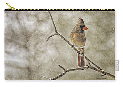 Female Redbird Carry-all Pouch by Kenny Francis
