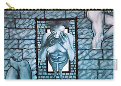 Carry-all Pouch featuring the painting Female's Gray World by Fei A