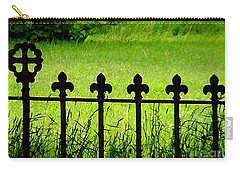 Fence And Cross Carry-all Pouch
