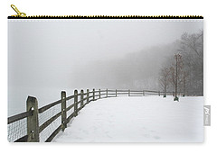 Fence In Fog Carry-all Pouch