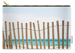 Fence On The Beach Carry-all Pouch by Shelby  Young