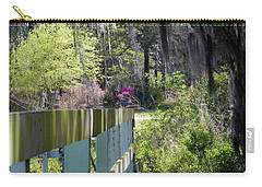 Fence Points The Way Carry-all Pouch by Patricia Greer