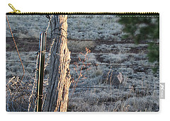 Carry-all Pouch featuring the photograph Fence Post by David S Reynolds