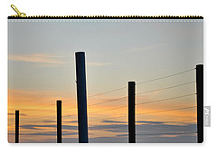 Fence Posts At Sunset Carry-all Pouch